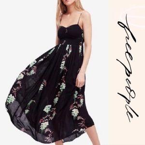 Free People Beau Black slip dress Intimately maxi